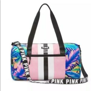 🆕 Rare PINK VS 🌺TROPICAL MINI DUFFLE BAG